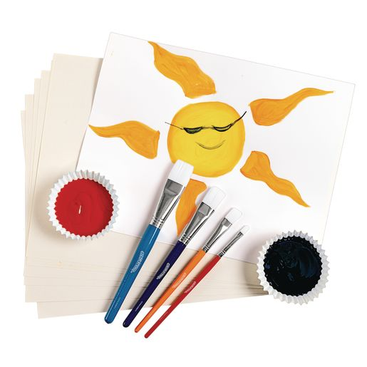 Colorations® Flat Paint Brushes, Set of 24, 4 sizes