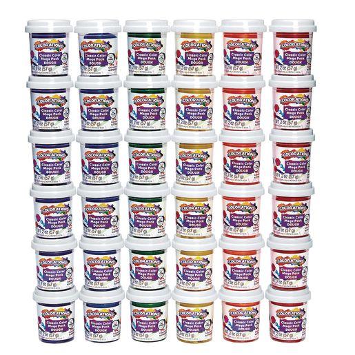 Classic Color Dough 36 Tubs, 6 Colors, 3 of each, each 2oz