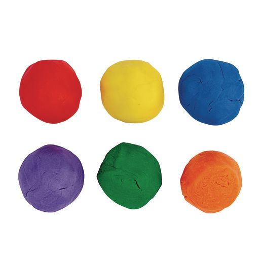 Colorations® Dough, 36 pots, 6 colors, 6 of each & ABC modelling mats