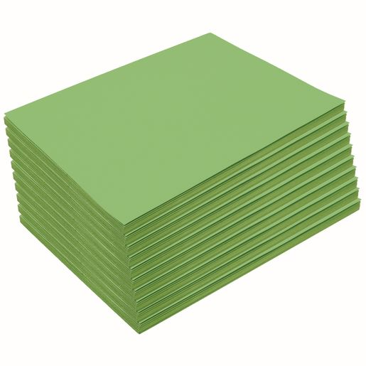 "Heavyweight Bright Green Construction Paper, 9"" x 12"", 500 Sheets"