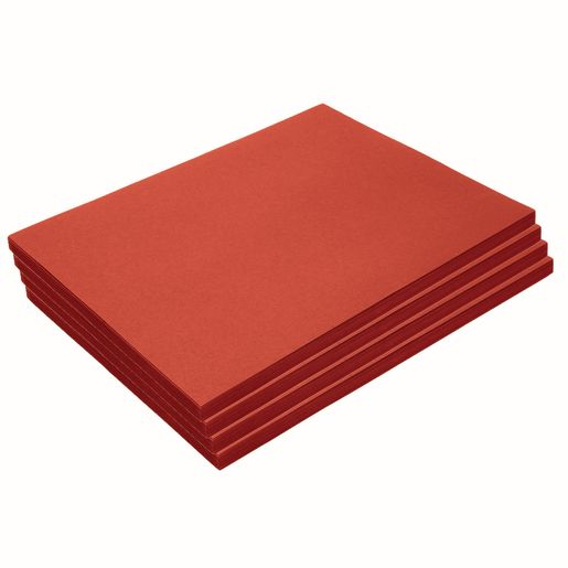 "Heavyweight Red Construction Paper, 9"" x 12"", 200 Sheets"
