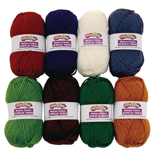 Image of Colorations Nature Colors Acrylic Yarn - Set of 8