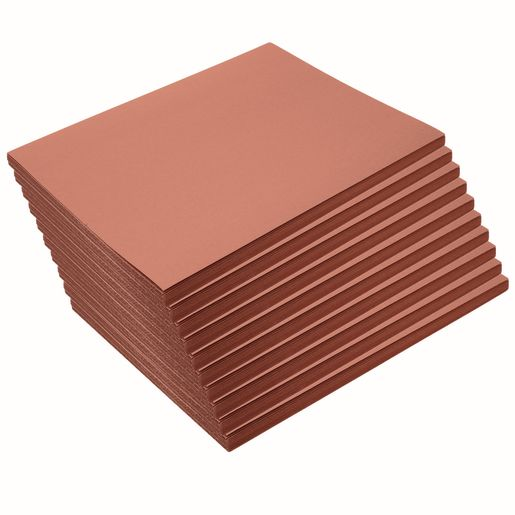 "Brown 9"" x 12"" Heavyweight Construction Paper Pack 500 Sheets"