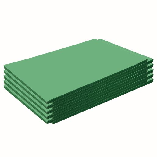 "Construction Paper, Holiday Green, 12"" x 18"", 500 Sheets"
