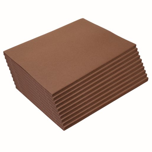 "Dark Brown 9"" x 12"" Heavyweight Construction Paper Pack - 500 Sheets"