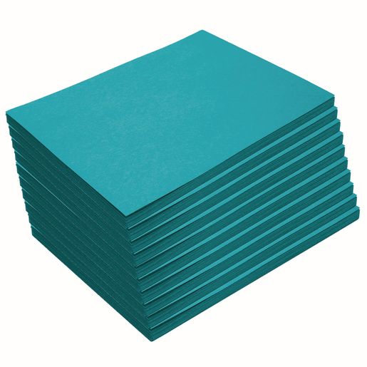 "Heavyweight Turquoise Construction Paper, 9"" x 12"", 500 Sheets"