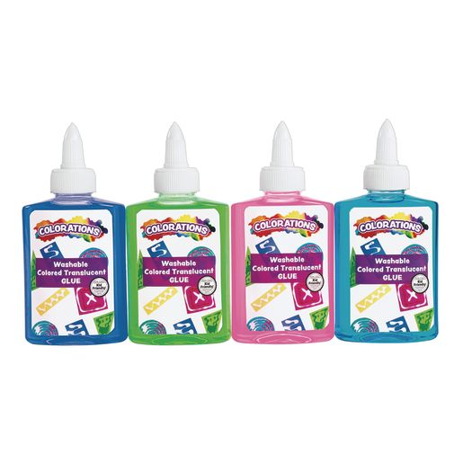 Colored Translucent Glue, Colorations®, Set of 4, 4 oz