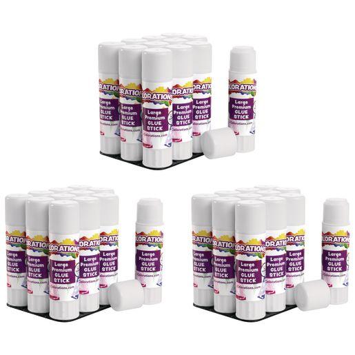 Colorations® Premium Washable White Glue Sticks in a Tray, set of 36, 0.88 oz ea