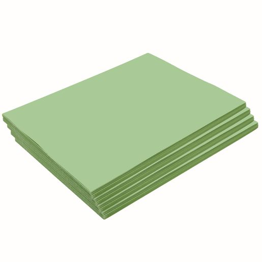 "Heavyweight Light Green Construction Paper, 9"" x 12"", 200 Sheets"