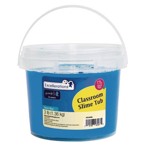 Image of Excellerations Classroom-Sized Tub of Slime, 3lbs- Neon Blue