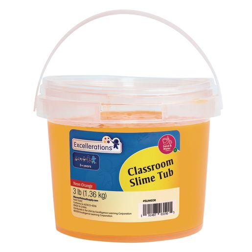 Excellerations Classroom-Sized Tub of Slime, 3lbs.- Neon Orange_0