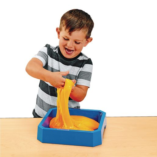 Excellerations Classroom-Sized Tub of Slime, 3lbs.- Neon Orange_2