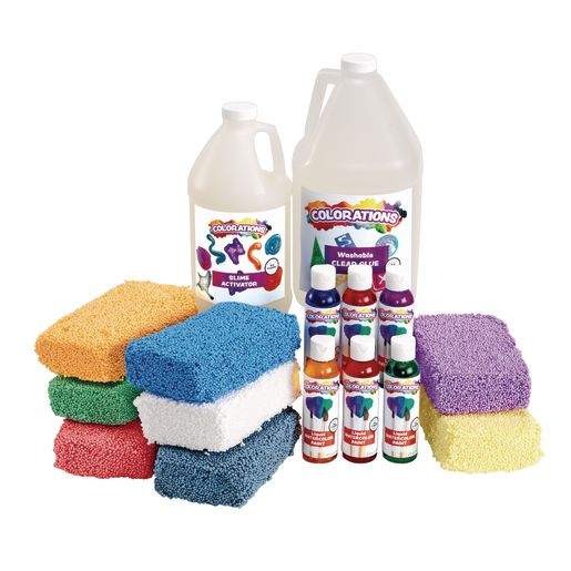 Image of COLORFUL BUMPY FOAM SLIME KIT