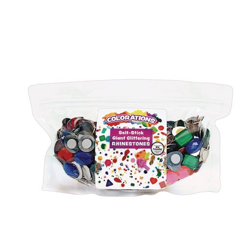 Image of Colorations Self-Adhesive Jumbo Gems - 1 Pound