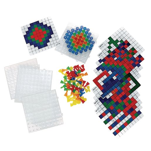 Image of Excellerations Translucent Pegs Activity Set - 124 pcs