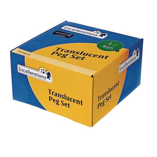 Excellerations® Translucent Pegs Activity Set - 124 pcs