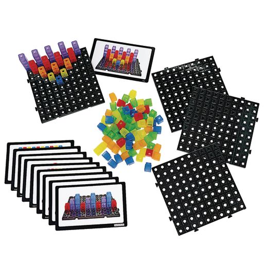 Image of Excellerations Translucent Cubes Activity Set - 124 Pieces