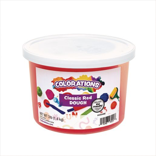 Colorations® Classic Colors Best Value Dough - Red - 3 lbs.