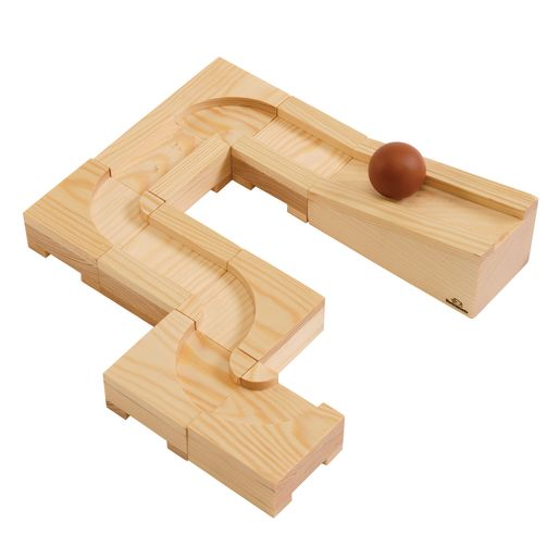 Image of Environments earlySTEM Wooden Ball Maze Puzzle Cubes