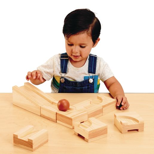 Environments® earlySTEM™ Wooden Ball Maze Puzzle Cubes