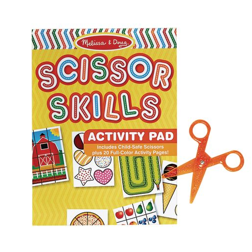 Image of Melissa & Doug Scissor Skills Activity Pad with Scissors