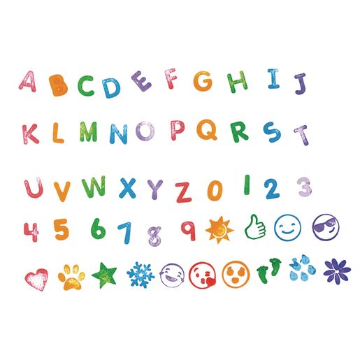 Colorations® Letters & More Self-Stampers - 50 Stampers