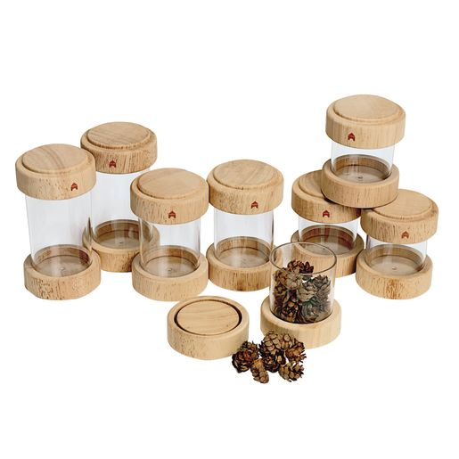Clear Treasure Tubes Set of 8