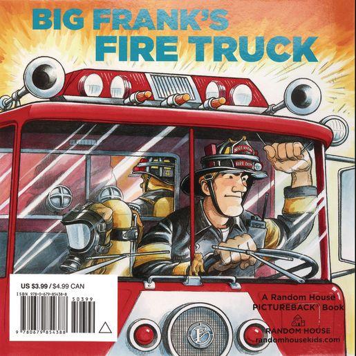 Big Frank's Fire Truck Paperback book