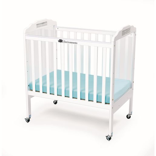 Environments® Compact Adjustable Clear View Crib - White