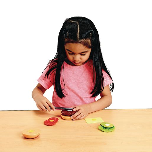 Cut and Play Food- Burger Playset 8 Pieces