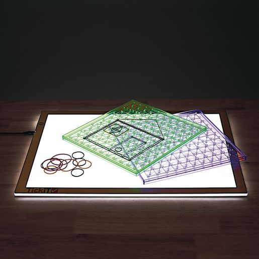 Excellerations® Translucent Geo Boards - Set of 6