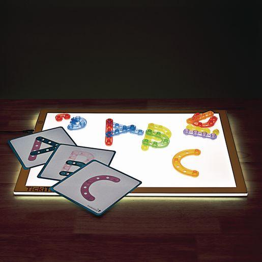 Excellerations® Translucent Alphabet Construction Set- 100 Pieces