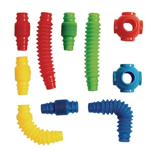 Excellerations® Stretchy Tubes and Connectors - 60 Pieces