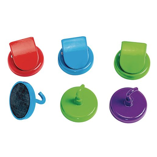 Image of Super Strong Magnetic Hooks and Clips - 6 Pieces