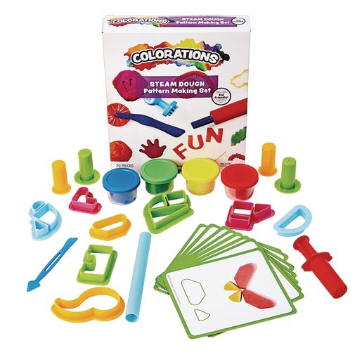 Image of Colorations STEAM Dough Pattern Making Set - 29 Pieces