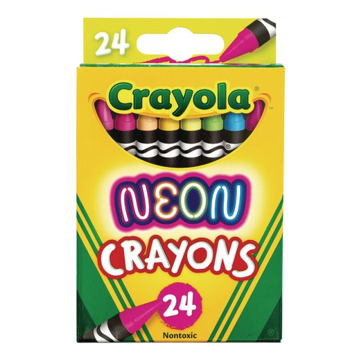 Image of Crayola Neon Crayons, Set of 24 Colors