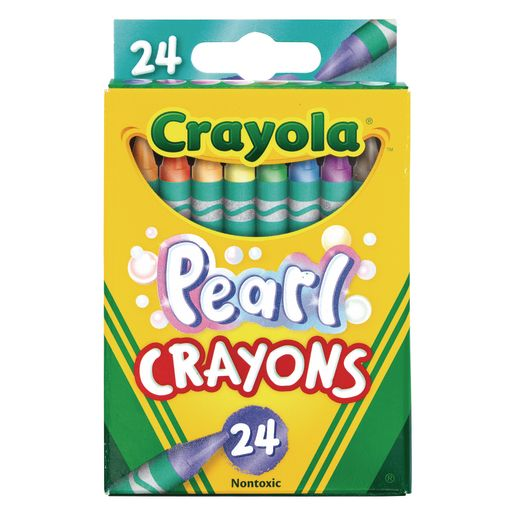 Image of Crayola Pearl Crayons, Set of 24 Colors