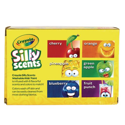 Crayola Silly Scent Washable Kids Paint, 6 colors, 2 oz. Bottles