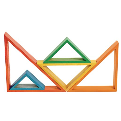 Image of Wooden Rainbow Triangles