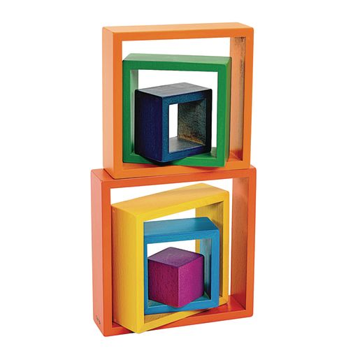 Image of Wooden Rainbow Squares