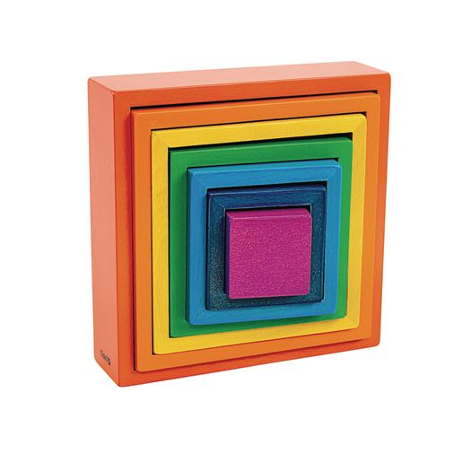 Wooden Rainbow Squares