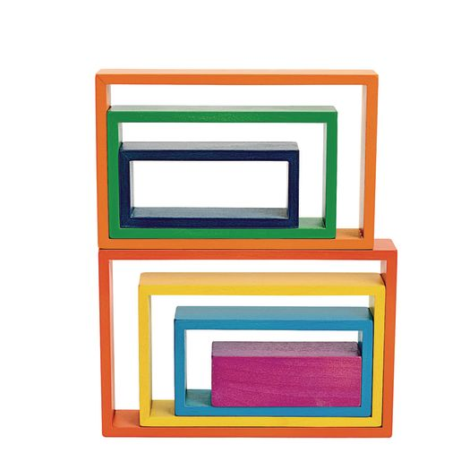 Image of Wooden Rainbow Rectangles