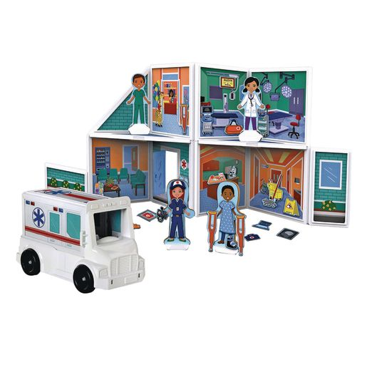 Image of Magnetivity Magnetic Building Play Set 83-Pieces - Hospital