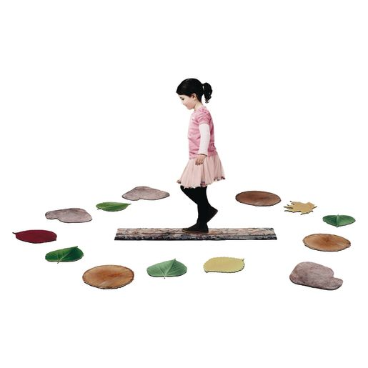 Image of Nature's Footsteps Walking Path Set of 15 Non-Slip Mats