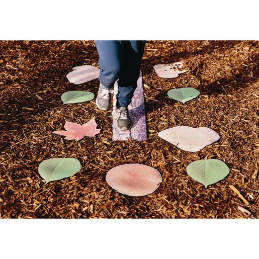 Nature's Footsteps Walking Path Set of 15 Non-Slip Mats