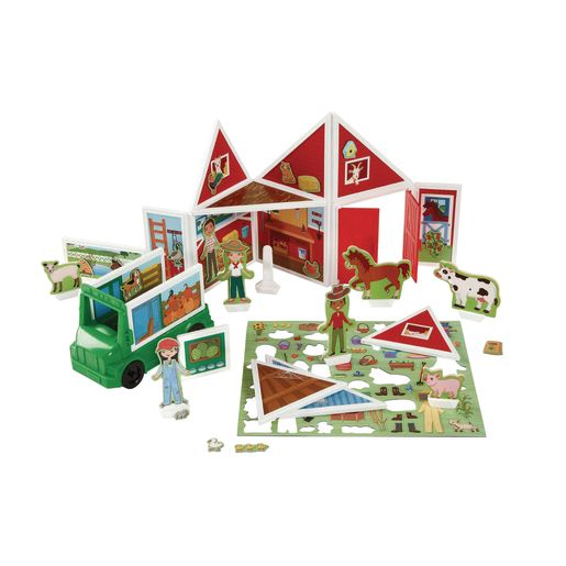 Image of Magnetivity Magnetic Building Play Set 102-Pieces Farm