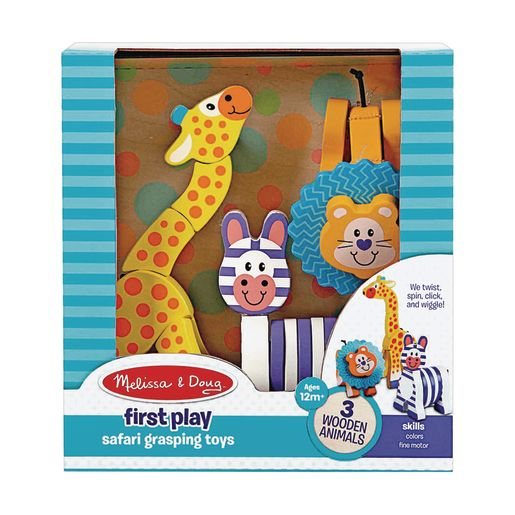 Safari Grasping Toys Set of 3
