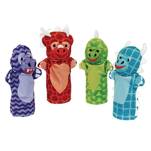 Image of Dinosaur Friends Hand Puppets Set of 4