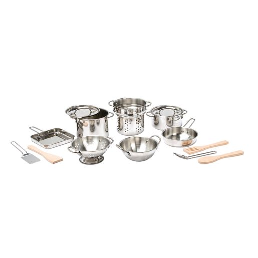 Image of Deluxe Pots & Pans Play Set of 15-Pieces