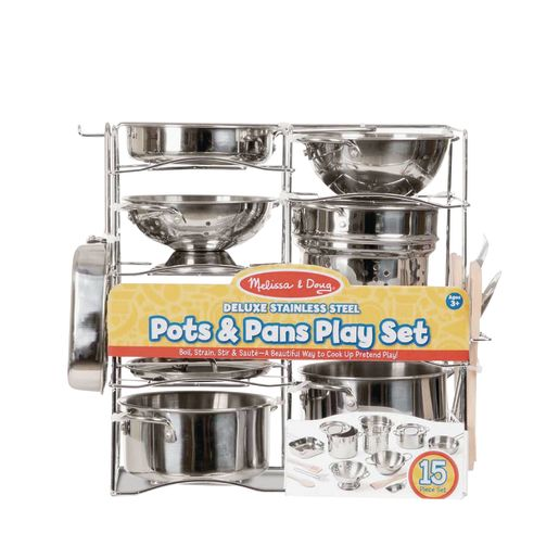 Deluxe Pots & Pans Play Set of 15-Pieces_1